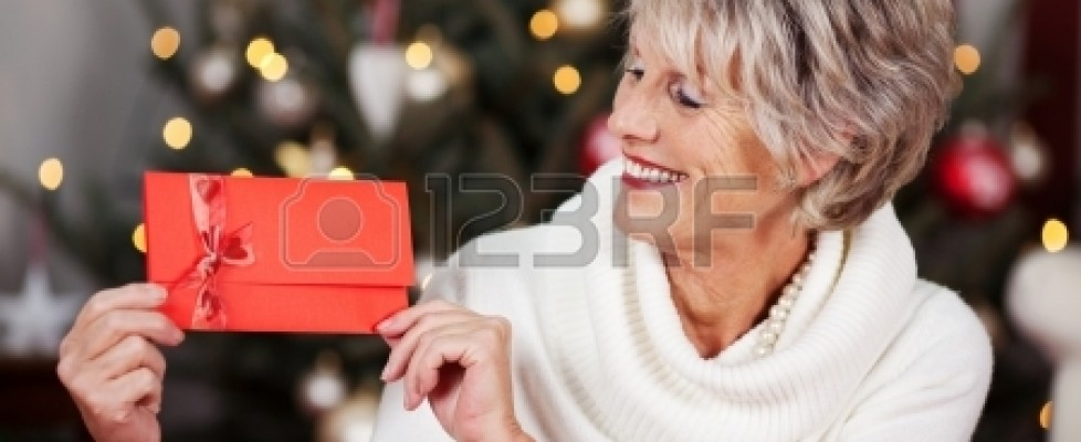 Woman with voucher